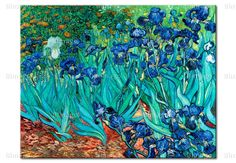 Iris by Vince van Gogh, on canvas
