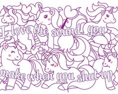 Cute Insult Calming Coloring Page With Ornaments By Paperbro Art