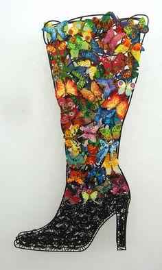 David Gerstein –Wall sculptures- Shoes & Boots- SENSATION- Art Saga gallery in Prague
