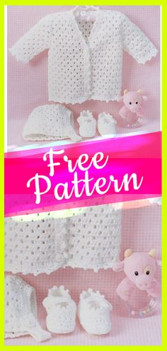 Baby Crochet Set With Free Pattern