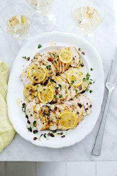 Underbart god citron- och vitlöksdoftande kyckling som är allra godast ljummen, LANTLIV.COM