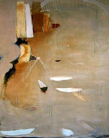 Brett Whiteley; Lavender Bay in the Rain, 1974. Probably painted from his home/studio on the hillside at Lavender Bay. So simple, perfectly balanced.