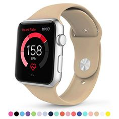nice Apple Watch Band,Amytech 42 mm Soft Silicone Fitness Replacement Sport Band for Apple iWatch All Models