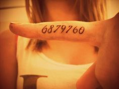 "Doctor Who tattoo. 6879760 It is from the Doctor Who episode ""The Age of Steel"" and the only way for the Doctor to defeat the Cybermen was to turn on their emotions. 6879760 was the code they used to activate their emotions."