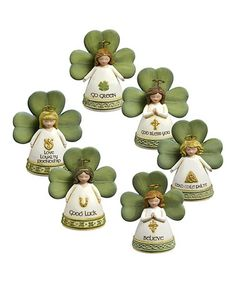 Take a look at this Celtic Tradition Angel Figurine Set by Grasslands Road on #zulily today!