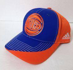9d34cc9e2f55c ADIDAS NEW YORK KNICKS HAT dry fit curve bill snapback orange blue  men women cap