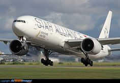 Boeing 777-312/ER. Love the Star Alliance livery. Note that this ac doesn't have the black tail.