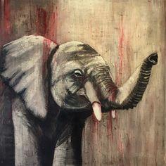 FOOTPRINTS Footprints, Modern Art, Elephant, Animals, Art, Animales, Animaux, Elephants, Animal