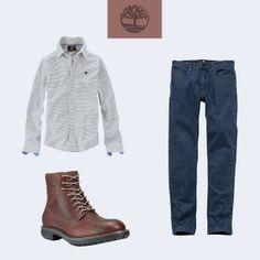 Look à prova de mau gosto! Camisa Basketweave Stripe, calça Jeans Heritage e Ryker 6 Boot que é à prova d'água!