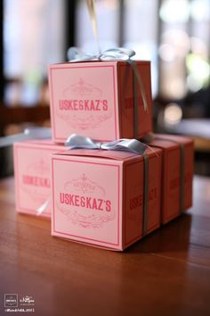 DIY Mendl's box for our wedding party