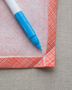 Purl Soho - Classic Mitered Napkins with neat mitred corner technique
