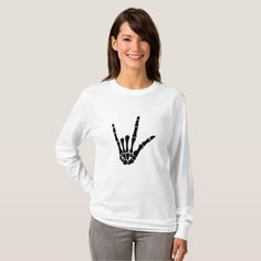 #Skeleton Love Hand Halloween Funny Gift T-Shirt - #halloween #party #stuff #allhalloween All Hallows' Eve All Saints' Eve #Kids & #Adaults