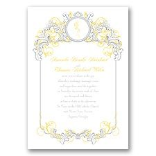 Beauty and the Beast Theme Wedding Invitations