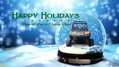 Happy Holidays from all of us at Clearly Tough! Happy Holidays, Snow Globes, Decor, Happy Holi, Decoration, Decorating, Deco