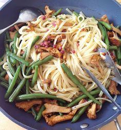 Cuisiner Bien: Bohnen-Pfifferlings Pasta