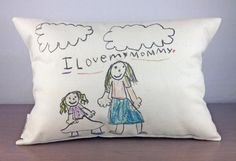 """Put Any Drawing on a 12""""x18"""" Pillow 