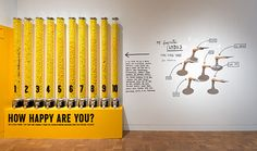 Installation view of Stefan Sagmeister: The Happy Show, March 20–June 9, 2013 at MOCA Pacific Design Center, photo by Brian Forrest, ©The Mu...