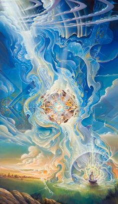 """""""Birth of a Star"""" By Michael Divine 48"""" x 28"""" Acrylic/Canvas"""