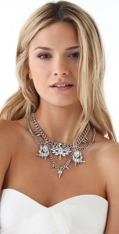 Fallon Jewelry Classique Bib Necklace- perfect for a bride with a bit of an edge.