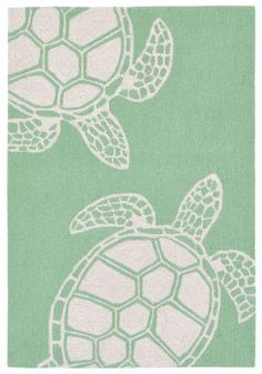 Stylish outdoor rugs for sale, at Hadinger Area Rug Gallery! (Nationwide shipping available.) C32Z 1634/06 Turtle Green