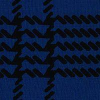 Graphic Plaid Ponte Knit - Royal Blue/Black