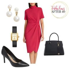 Business Chic, Business Fashion, Pretty Dresses, Blue Dresses, Dress Red, Neutral Pumps, Dresses For Sale, Dresses For Work, Office Looks
