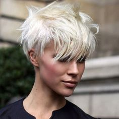 An ice blonde crop. Not for the faint hearted.