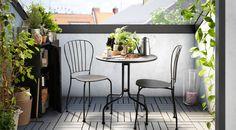 LÄCKÖ/レッコ 屋外用テーブルとチェア2脚のセット