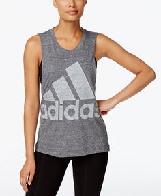 56ad9a816dec90 adidas Logo Tank Top   Reviews - Tops - Women - Macy s