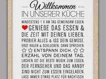 """""""KÜCHEN HAUSORDNUNG"""" Kunstdruck"""