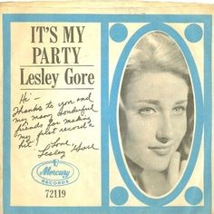 "Lesley Gore, ""It's My Party"""