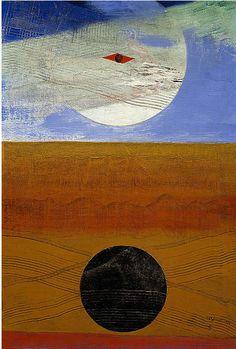 "surrealism: "" Mer et soleil by Max Ernst, Oil on canvas, 37 x 54 cm. Scottish National Gallery of Modern Art, Edinburgh, U. Marx Ernst, Max Ernst Paintings, Rainer Fetting, Galerie D'art Moderne, Karl Hofer, Horst Janssen, Hans Thoma, Gallery Of Modern Art, Hermann Hesse"