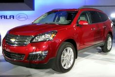 Red Chevy Traverse