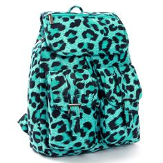 Mint Leopard Backpack for Women School Backpacks Mareart 9074