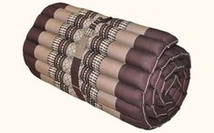 ROLL UP THAI MATTRESS DAY BED KAPOK100% FILLED  MEDITATION BROWN #Handmade #ThaiTradition