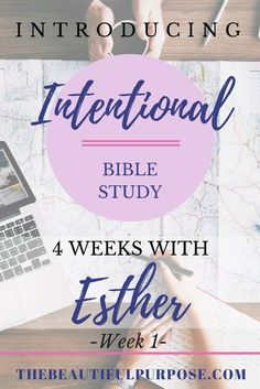 "Being ""intentional"" with studying the Bible is to really get deeper into what the Word of God says. I want to grow more intentional to grow closer to God and know Him more than I can ever imagine. So, ladies, I dare you to be ""intentional"" along with me as we study the book of Esther and her story before and after becoming Queen and how she risked her life to save her own people. So, go ahead get cozied and snuggled up with a cup of strong coffee or tea, and let's get intentional! Read for…"