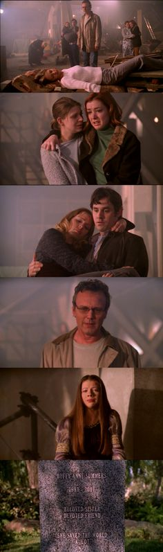 The Gift - I find Giles' face to be the least shocked. Of all of them, he always knew he would outlive his Slayer. Her friends didn't go into it knowing that.