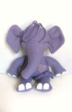 Grape Elephant Ragdoll by 2dancingdogs on Etsy, $35.00