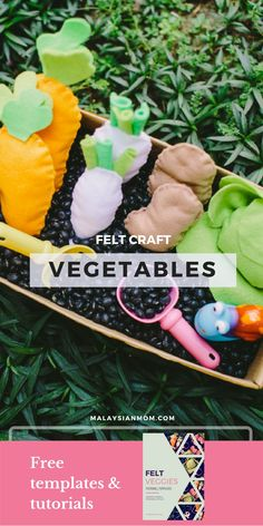Felt crafts | Food | Toys | Vegetables | Projects | Patterns | DIY | Tutorials | How to make | Garden | Follow @malaysian_mom for more awesome ideas!