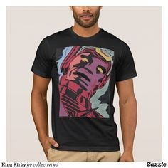 Shop King Kirby T-Shirt created by collectivtwo. King Fashion, Anti Fashion, American Apparel, Fitness Models, Jack Kirby, Construction Paper, Unisex, Original Image, Stylish