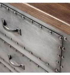 Rivet Industrial Metal Desk