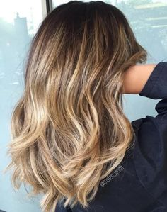 Medium Layers with Nude Hair Color
