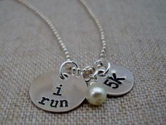 I RUN Motivational Necklace by lovebranded on Etsy, $29.00 -- I need this in my life like RIGHT NOW!