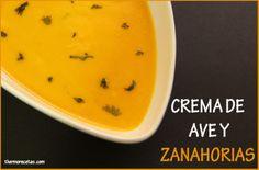 THERMOMIX. Crema de zanahorias con caldo de pollo.