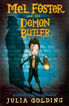 Mel Foster and the demon butler by Julia Golding.  When Mel Foster accidentally revives a giantess from inside a block of ice, he thinks his goose is cooked. But Eve is no Monster. She doesn't want to eat Mel-she wants to protect him. And he's going to need all the help he can get. Queen Victoria's butler is hatching a plan that could Destroy the British Empire ... and only Mel has the power to stop him!