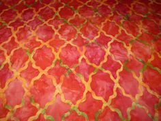 Designerstoffe USA - Michael Miller Batik Paprika rot Ethno - ein Designerstück von Bibo-Laedchen bei DaWanda