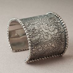 Stephen Dweck Hand-Engraved Cuff in sterling silver