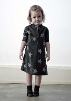 Nununu stars dress for girls - new for spring. Love this whole collection!