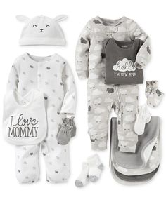 Carter's Baby Boys' or Baby Girls' Neutral Little Lamb Clothing Sets Coveralls Burb Cloths & Mitts - Newborn Shop - Kids & Baby - Macy's Carters Baby Clothes, Carters Baby Boys, Cute Baby Clothes, Babies Clothes, Babies Stuff, Toddler Boys, Baby Outfits, Newborn Outfits, Kids Outfits