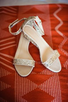 Glitter Sandals | Scobey Photography | Theknot.com